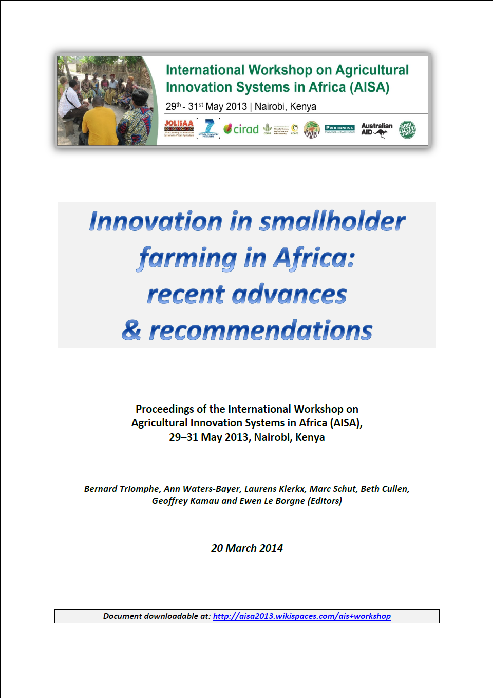 AISA innovation in smallholder farming